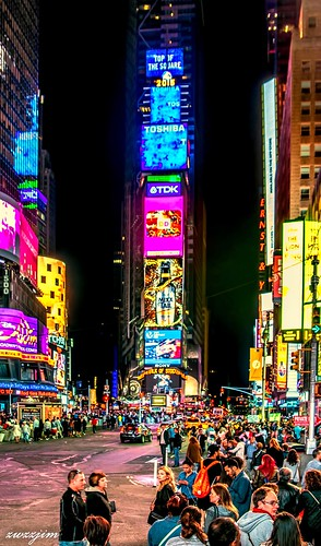 The night view of Times Square 04, NY, USA