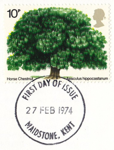 Royal Mail Postage Stamp British Trees Horse Chesnut 1974